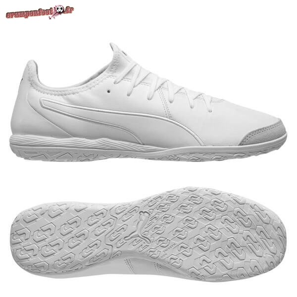 Remise Chaussure Puma King Pro IC Blanc Pas Cher