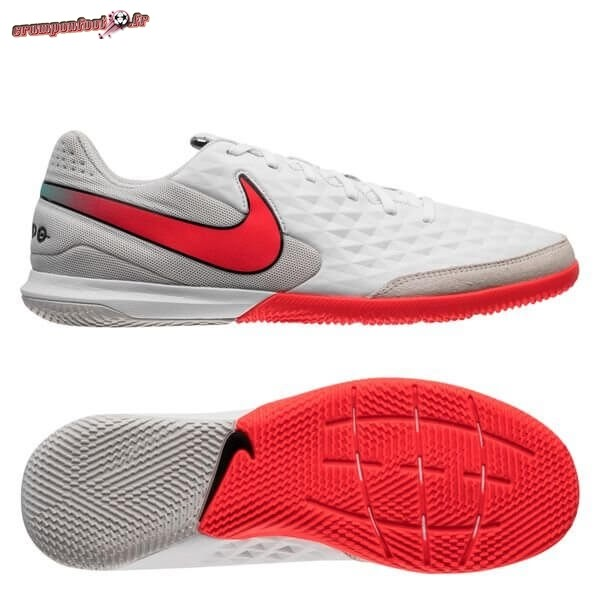 Destockage - Chaussure Nike Tiempo Legend 8 Academy IC Flash Crimson Blanc En Ligne