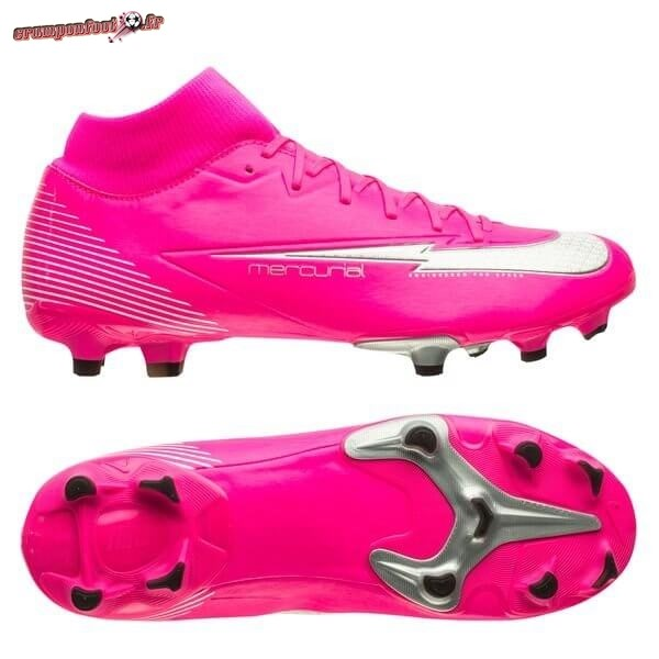 Trouver - Chaussure Nike Mercurial Superfly 7 Academy MG Mbappé Rosa Rouge Blanc Noir Chaussure de Foot Salle