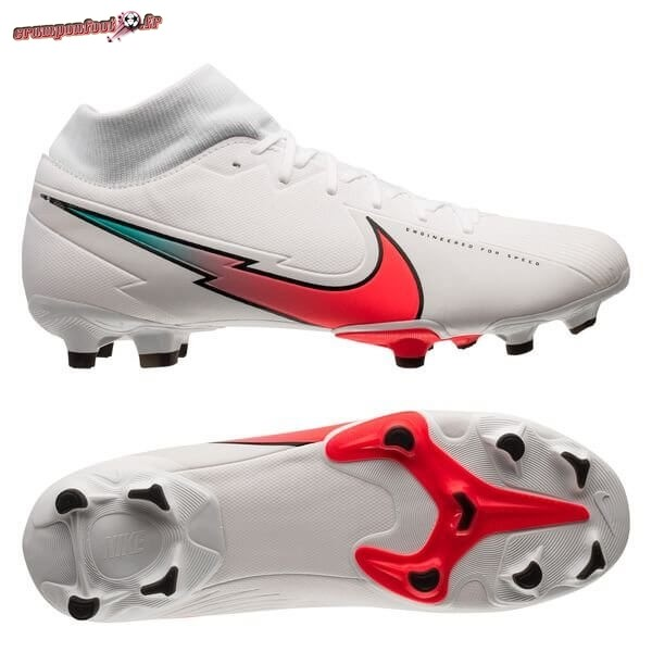 Vente Chaussure Nike Mercurial Superfly 7 Academy MG Flash Crimson Blanc - Chaussures de Foot