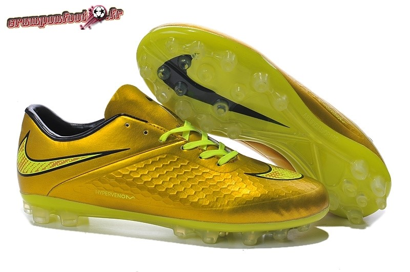 Buy Chaussure Nike HyperVenom AG Or Jaune - Crampon de Foot