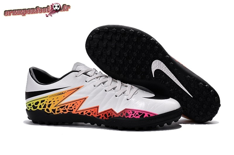 Buy Chaussure Nike HyperVenom II Femme TF Blanc Orange - Crampon de Foot