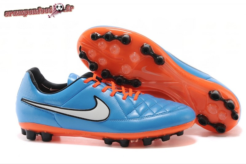 Buy Chaussure Nike Tiempo Mystic V AG Bleu Rouge Chaussure de Foot Salle