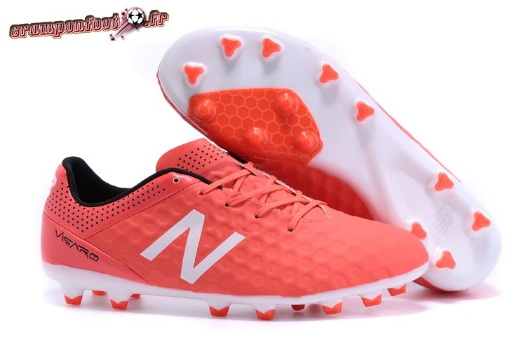 Chaussure Foot Promo - Chaussure New Balance Visaro FG Rouge Blanc Pas Cher
