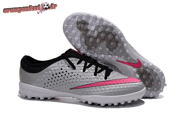 Chaussure Foot Promo - Chaussure Nike Elastico Finale III TF Argent Rouge Chaussure de Foot Salle