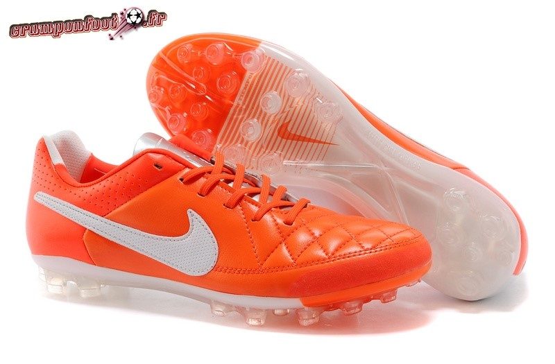 Chaussure Foot Promo - Chaussure Nike Tiempo Mystic V AG Rouge Blanc - Chaussures de Foot
