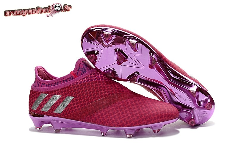 Destockage - Chaussure Adidas X 16+ FG Rouge Rose - Chaussures de Foot