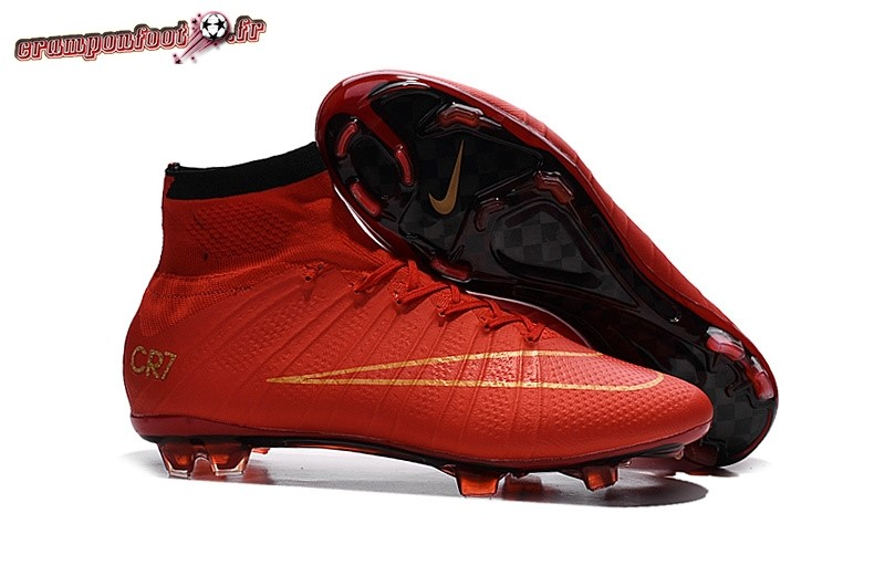Destockage - Chaussure Nike Mercurial Superfly CR7 FG Cramoisi - Crampon de Foot