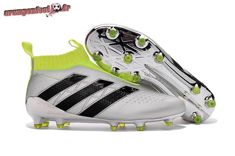 Hot Chaussure Adidas Ace 16+ AG Blanc Argent Chaussure de Foot Salle