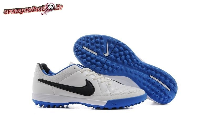 Offres Chaussure Nike Mercurial Veloce CR7 TF Blanc Bleu Chaussure de Foot Salle