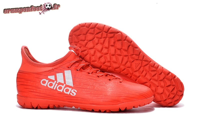 Personnaliser Chaussure Adidas X 16.3 Femme TF Rouge En Solde