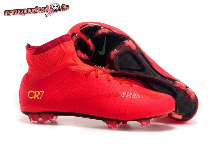 Personnaliser Chaussure Nike Mercurial Superfly CR7 Enfants FG Rouge Pas Cher