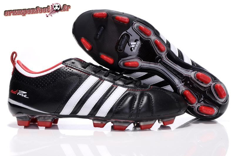 Site Crampons Foot - Chaussure Adidas AdiPure 11Pro IV FG Noir Blanc Rouge Pas Cher