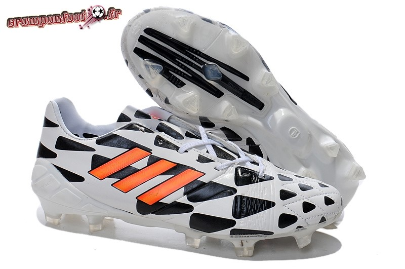 Site Crampons Foot - Chaussure Adidas Nitrocharge 1.0 FG Blanc Noir - Crampon de Foot