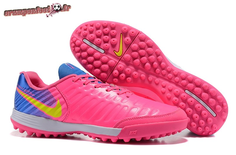 Site Crampons Foot - Chaussure NIke Tiempo Mystic VII TF Rose Bleu En Ligne
