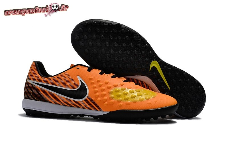 Site Crampons Foot - Chaussure Nike Magista Orden II TF Orange Noir - Crampon de Foot