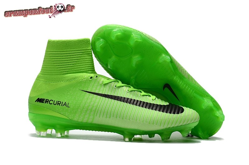 Site Crampons Foot - Chaussure Nike Mercurial Superfly V FG Vert Pas Cher