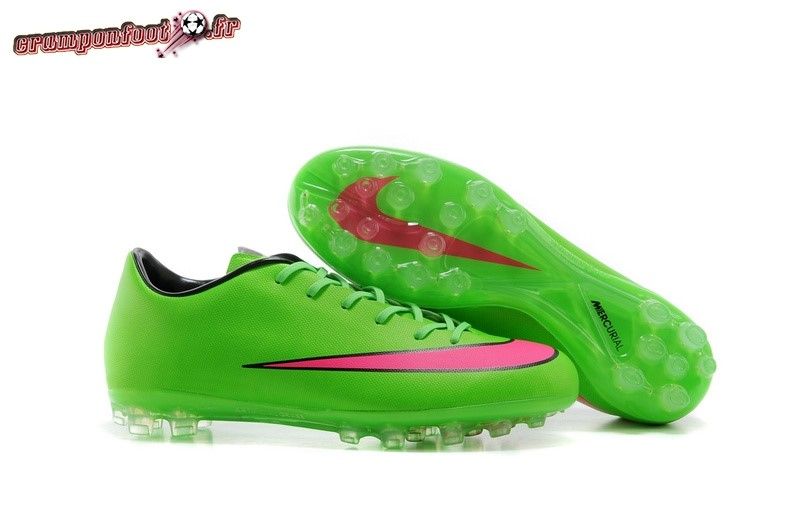 Site Crampons Foot - Chaussure Nike Mercurial X Victory AG Vert Rouge - Chaussures de Foot