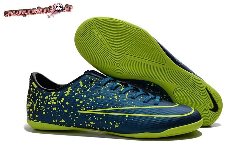 Site Crampons Foot - Chaussure Nike Mercurial X Victory INIC Bleu Vert Pas Cher