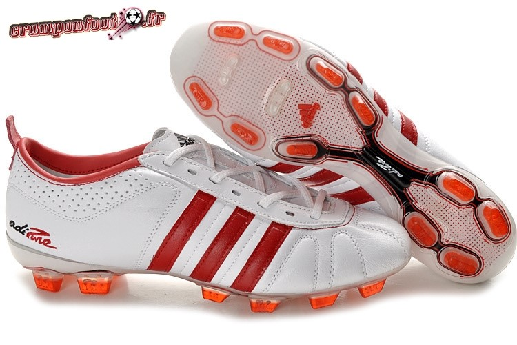 Soldes Chaussure Adidas AdiPure 11Pro IV FG Blanc Rouge - Chaussures de Foot