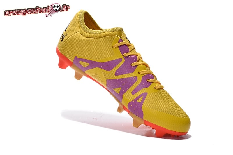 newest 9f98a ef512 ... Soldes Chaussure Adidas X 15.1 AG FG Jaune Pourpre Rouge - Crampon de  Foot ...